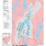 Watershed mapping for survey of NPS sites.