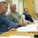Tom Doore, Gary Wheeler, and John Bascom at recent meeting.